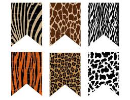 leopard print party supplies animal print banner animal banner safari banner jungle