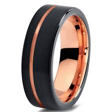 wedding band recommendations online shop mens wedding band black gold color cool tungsten