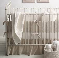 Vintage Boy Crib Bedding Embroidered Trellis Vintage Washed Percale Nursery Bedding
