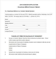 Vendor Information Sheet Template Vendor Application Template 12 Free Word Pdf Documents