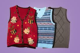 the sweater the sweater vest isn t hideous it s just misunderstood
