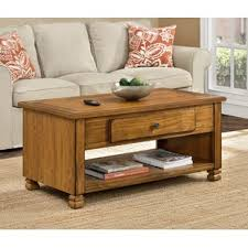 wood coffee table with storage farmhouse rustic coffee tables birch lane