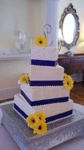 wedding cake royal blue royal blue yellow colour scheme wedding flair