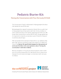 the conversation project starter kits