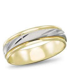 two tone mens wedding bands 14k two tone gold 5 5mm men s wedding band samuels jewelers