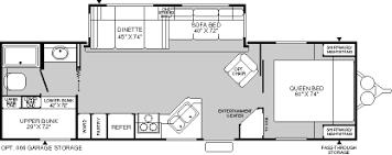 Fleetwood 5th Wheel Floor Plans 2004 Mallard 300bhs Travel Trailer Rv Used Bunk Model Camper Rv