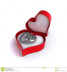 wedding ring in a box wedding rings stock illustration illustration of heart 36146145