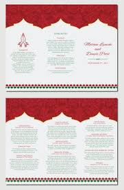 design your own wedding program downloadable hindu wedding program hindu weddings wedding