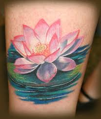 water lily tattoo water