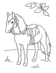 Free Printable Horse Coloring Pages For Kids  Coloriage Petits