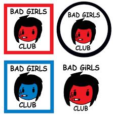 girls club sign posters punk b pop kodomo super hero wee