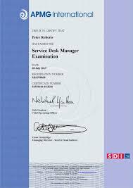 Service Desk Officer Service Desk Manager