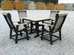 Tall Outdoor Table Patio Ideas Patio Tall Table And Chairs Amish Poly Half Round