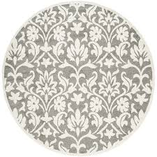 Round Indoor Outdoor Rug Shop Safavieh Amherst Bouquet Dark Gray Beige Round Indoor Outdoor