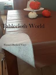 flannel backed vinyl table pad vinyl tablecloths
