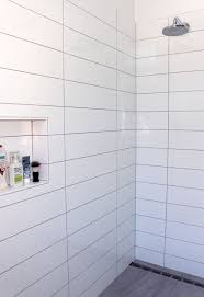 White Bathroom Tile Designs Long Rectangle Tiles Stacked Bathroom Wall Pattern Tile Ideas