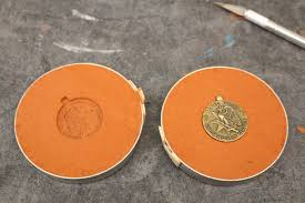 one sided hollow cast medals