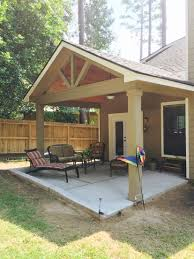 how to build a patio cover attached to a two story house home