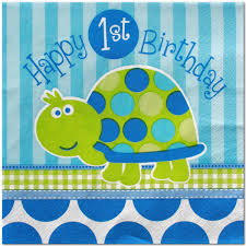 1st birthday for boys turtle 1st birthday boy lunch napkins 16