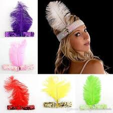 feather headbands indian feather headdress flapper ostrich feather headband fancy