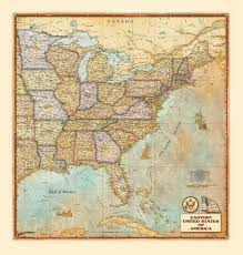 Map Of East United States by Designers U0027 Eastern Usa Antique Wall Map Zoom