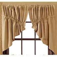 burlap natural prairie curtains primitive home decors