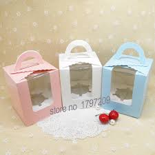 aliexpress com buy 20pcs single cute wedding cupcake box cake