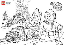 volcano explorers colouring page lego city activities city