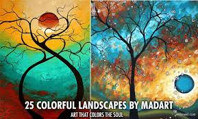 mind blowing colorful landscapes by madart ultra modern