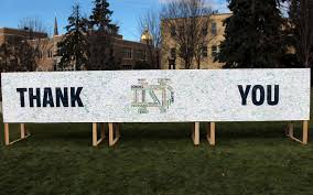 thank you from notre dame