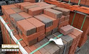 Red Brick Patio Pavers by Stone U0026 Hardscape Landscape Express Boston