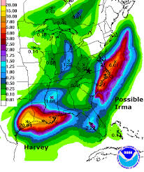 rainfall totals map between harvey and potential irma sw va will be cool and d