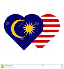 Malaysai Flag Malaysia Flag Heart Shape Stock Vector Illustration Of Nation