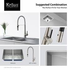 kraus commercial pre rinse chrome kitchen faucet kraus kpf 2730ss crespo stainless steel pro pre rinse units