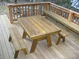 picnic table with separate benches heavy duty picnic tables made by quality patio furniture handcrafted