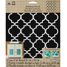 folkart painting stencils large moroccan tile 4377 plaid