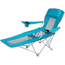ozark trail reclining armchair teal blue walmart com