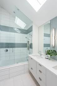 Toronto Bathroom Vanity Toronto Sea Glass Tiles Bathroom Modern With Wall Sconce Oak