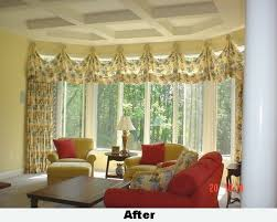 Bay Window Valance Window Treatments For Bay Windows Living Room Cool Window