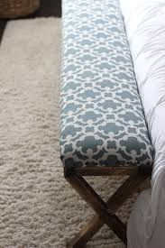 Fabric Bench For Bedroom Diy Upholstered Bench At The Foot Of The Bed Nice Designs