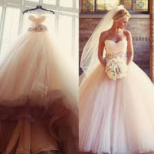 discount charming blush pink wedding dresses 2016 tulle beaded
