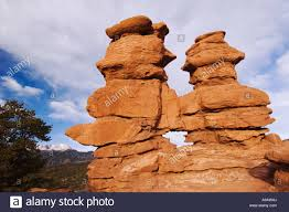 Pikes Peak Urban Gardens - siamese twins rock formation and pikes peak garden of the gods
