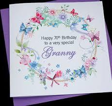 personalised handmade floral birthday card mum granny auntie