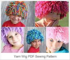 wigs for halloween diy yarn wig sewing pattern halloween costume wig tutorial pdf e