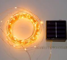 Starry String Lights On Copper Wire by Solar Powered String Light Amir 100 Leds Starry String Lights