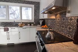 Cement Tile Backsplash by Cement Tiles Backsplash Contemporary Kitchen Montreal By