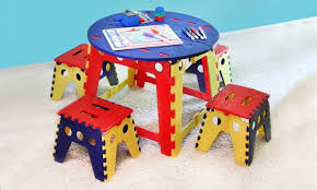 Mickey Mouse Activity Table Kids Folding Table And Chairs Roselawnlutheran