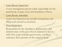 Housekeeping Department Of Hotel - Dining room supervisor job description