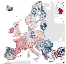Germany Map Europe by This Map Shows How Europe U0027s Population Changed And Shifted In The