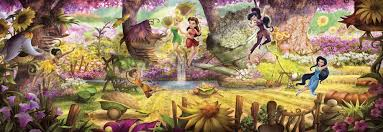 wall mural fairies forest